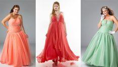 Nişan Düğün için Muhteşem Büyük Beden Abiye Modelleri