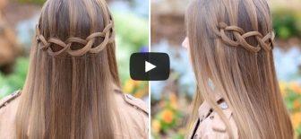 Düğümlü saç örgüsü nasıl yapılır İzle