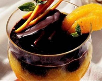 çikolata soslu portakal