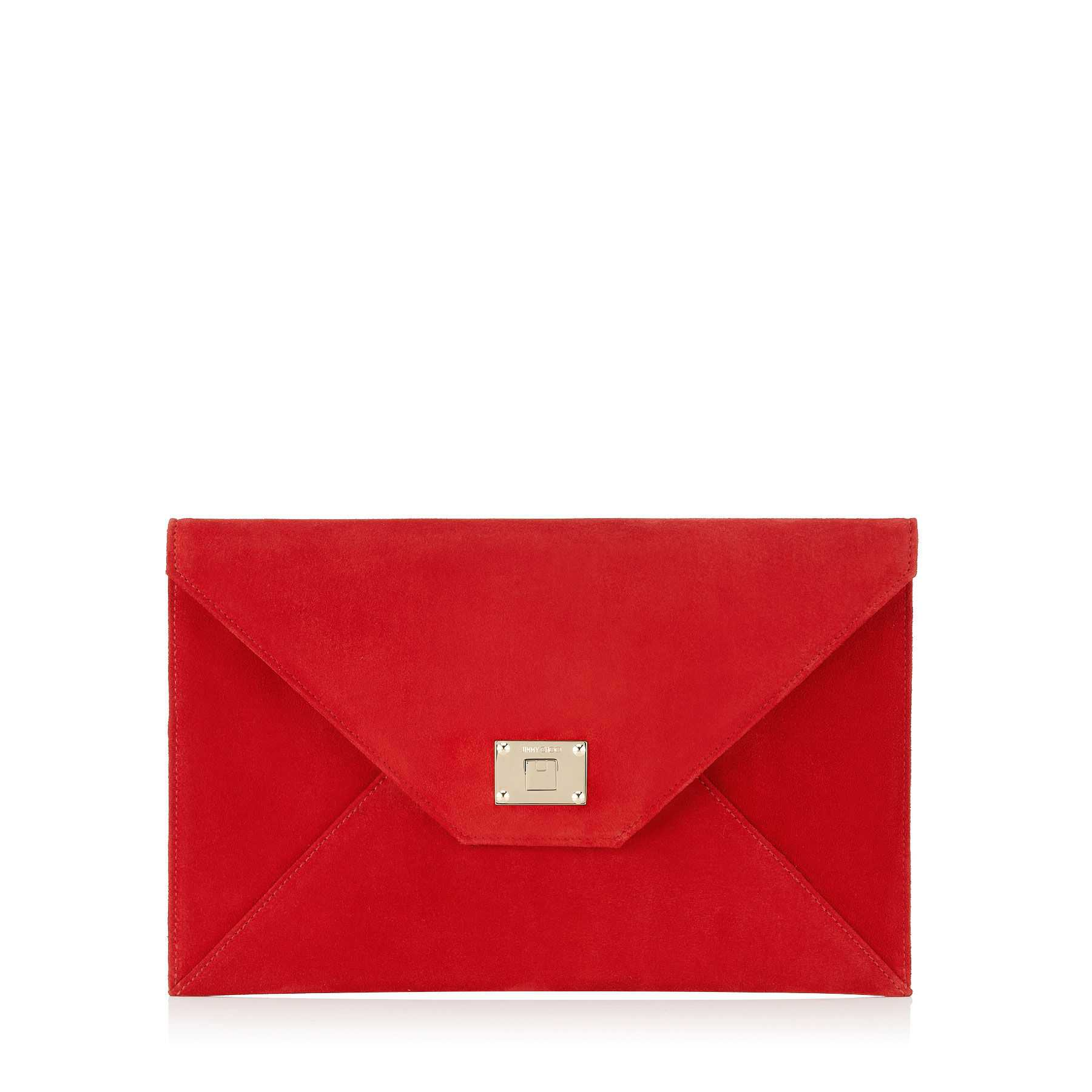 2020 Abiye Çanta Modelleri Kırmızı Jımmy Choo El Çantası