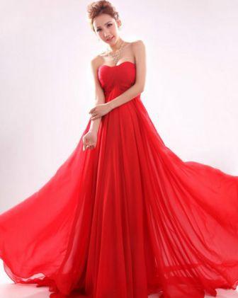 Abiye Elbise Modelleri Seksi Kırmızı - 2016