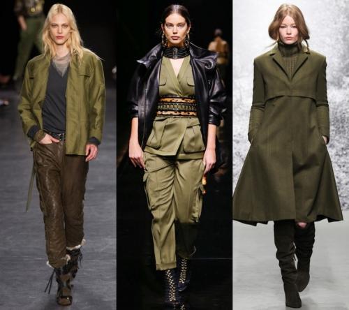 ASKERİ YEŞİL GİYSİ MODASI Asker teması her sezon tasarımcıların gözdesi. 2015-2016 sonbahar/kış bayan modasındayine çok göreceğimiz askeri kıyafetler ve asker yeşili parçalar, şimdiden gardırobunuzdaki yerlerini almalı.