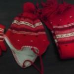 Atkı Bere Elbiven Modelleri kırmızı takım