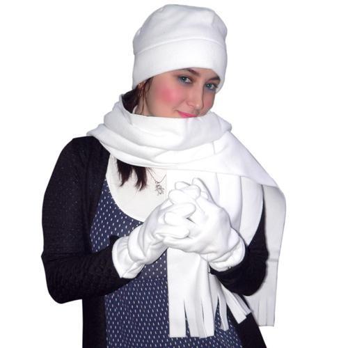 Atkı Bere Elbiven Modelleri Beyaz Takım