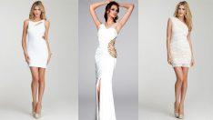 Beyaz Abiye Elbise, Şık Gece Elbiseleri 2018