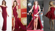 Bordo Abiye Elbise Modelleri 2019'un Moda Rengi