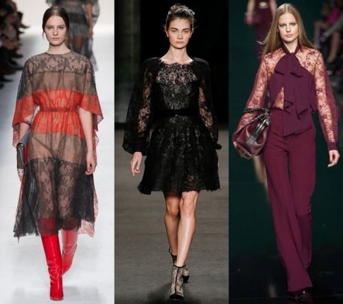 2017 Bayan Modası - dantel her zaman moda