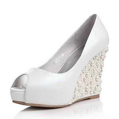 dolgu topuk gelin ayakkabı modelleri (49)