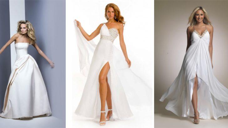 2019 Beyaz Abiye ve Gece Kıyafetleri – Gelinler Bile Kıskanacak