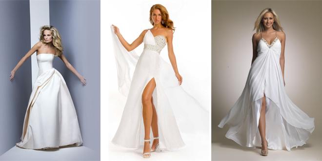 2018 Beyaz Abiye Elbise Modelleri Nikah ve Dügün İçin