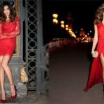 İşte en şık Kırmızı gece elbisesi modelleri