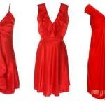 Kırmızı Kısa Abiye Elbise