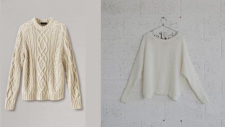 Son Moda Beyaz ve Krem Kışlık Kazak Modelleri