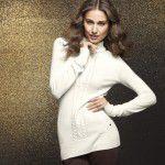 2019 Kış Moda İçin Krem ve Beyaz Kazak Modelleri