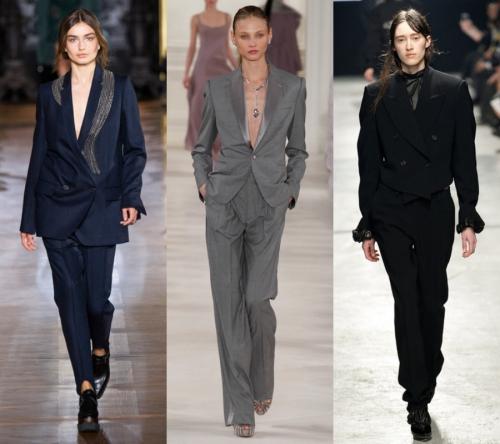 MASKÜLEN TAKIM MODASI  Son birkaç sezondur, yükselen eğilimlerden biri olan maskülen tarz, tasarımcıların da ünlü markalarında koleksiyonlarında bulunuyor. Özellikle maskülen takım elbiseler içinde bayanlar, oldukça güçlü ve seksi görünecek.