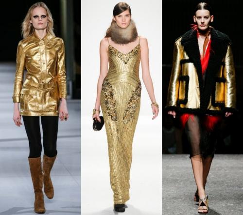 2017 Bayan Modası - metalik elbiseler