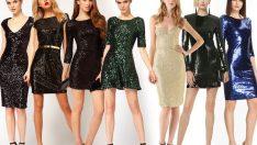 Düğün ve Nişanlar İçin Şık Payetli Abiye Elbise Modelleri