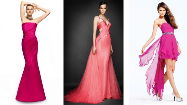 Fuşya ve Pembe Gece ve Abiye Elbise Modelleri