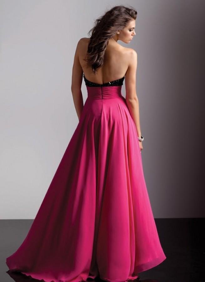 En Güzel Fuşya Abiye Elbise Modelleri