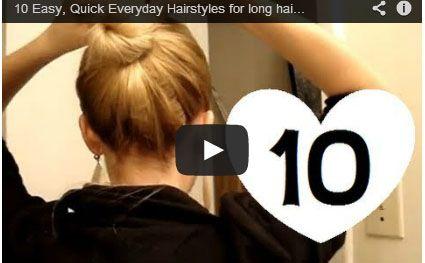 Pratik Günlük  Saç Modelleri