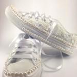 Renkli gelin ayakkabısı modası