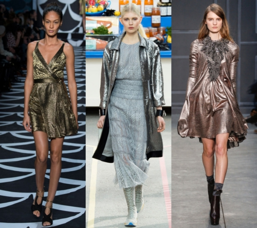 IŞILTILI KIYAFETLER MODASI Simli ve metalik ışıltısı olan elbiseleri, hem gece hem de gündüz stilinizde rahatça kullanacaksınız.