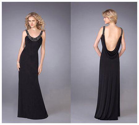 6f517ab22f60a Siyah Derin Sırt Dekolteli Elbise Modelleri | SadeKadınlar, Kıyafet ...
