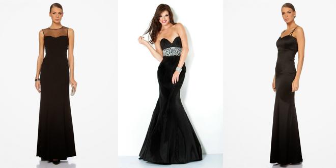 2018 Siyah Abiye Elbise Modelleri Kadınların Her Zaman Vazgeçilmezi