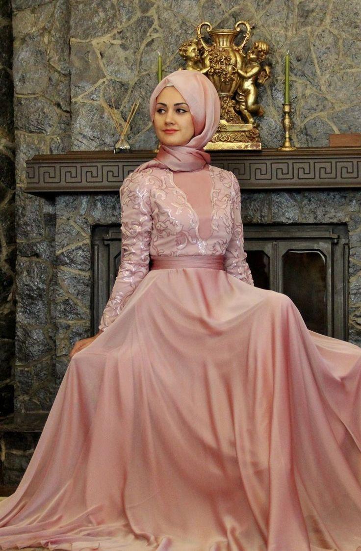 Nişanlık Pembe Renkli Abiye Modelleri 2019