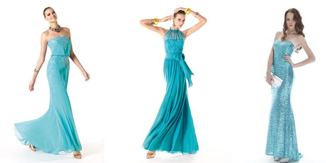 Turkuaz Abiye Modelleri