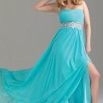 Turkuaz Abiye Elbise Modelleri