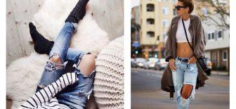 Yırtık Kot Kombinleri, Sokak Modası Jean Pantolon Modelleri