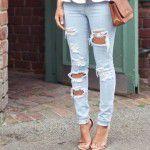 2019 Yırtık Kot Kombinleri, Şık Jean Pantolon Modelleri