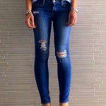Yırtık Kot Kombinleri, Şık Jean Pantolon Modelleri