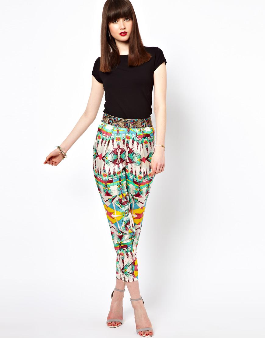 Desenli Pantolon Modelleri