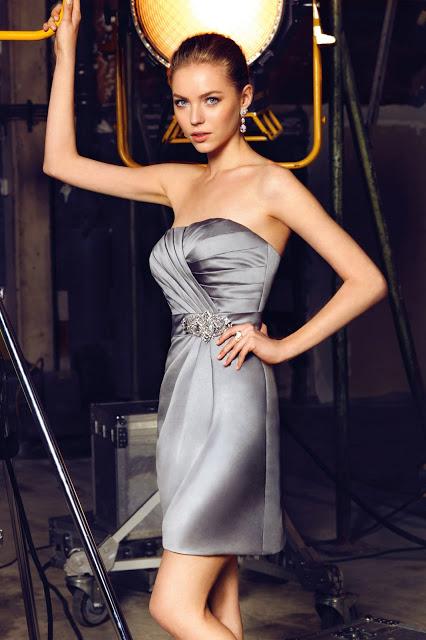 Abendkleider Kurz 2017-2018 - OLEG CASSINI Abiye Modelleri