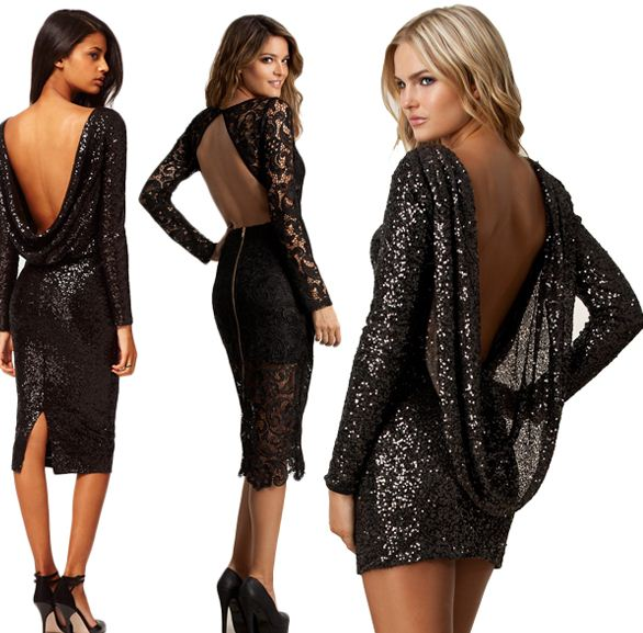 Sırt Dekolteli Elbise Modelleri