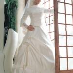 kapalı gelinlik modelleri - Tesettürlü Bayanlara Tesettür Gelinlik Modelleri