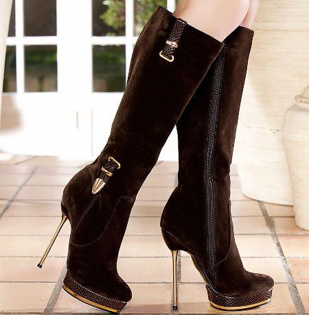 Yüksek Topuklu Bayan Çizme Modelleri