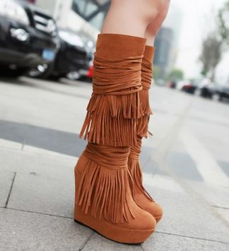 Süet Bayan Çizme Modelleri
