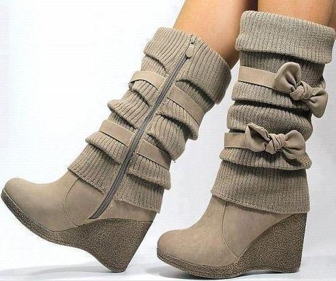 Dolgu Topuk Uzun Bayan Çizme Modelleri