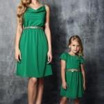 En Güzel Anne Kız Kombinleri Şık ve Şirin Kıyafetler