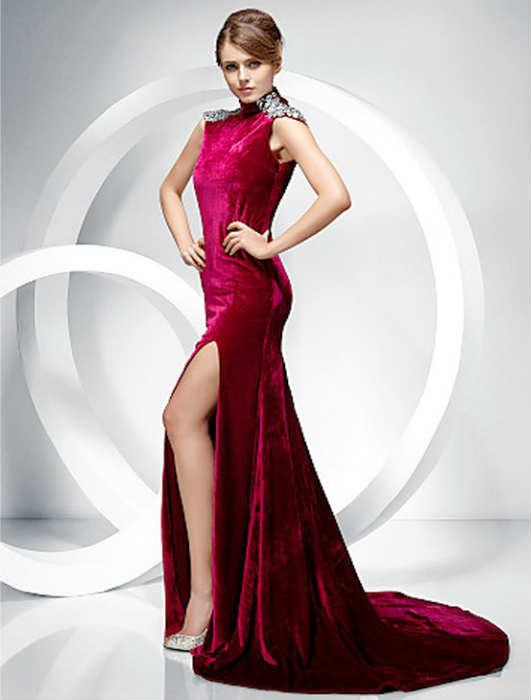 7fa84d6ba037e Kadife Abiye Elbise Modelleri 2019 Davetlerinin Yeni Trendi · «