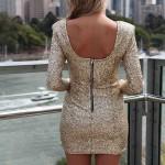 Payetli Mini Sırt Dekolteli Abiye Elbise Modelleri