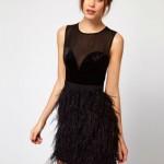 Siyah Mini Abiye Elbise Modelleri