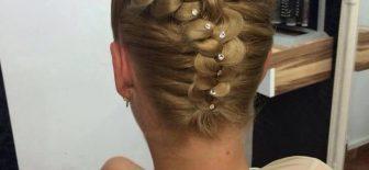 Örgü Topuz Saç Modelleri