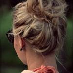 Örgü Topuz Saç Modelleri-Bun Hairstyle