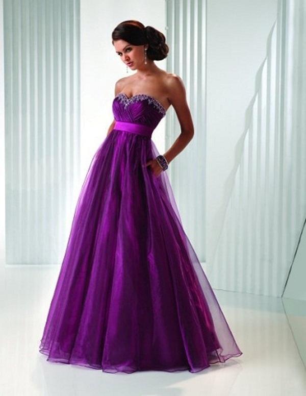Abiye Elbiseler_Mor nişan elbisesi