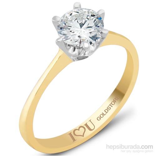 Goldstore Altın Seni Seviyorum Tek Taş Yüzük Grs38520