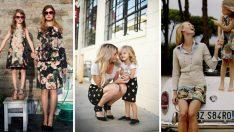 Anneler ve Kızları İçin En Şık Anne Kız Kombinleri